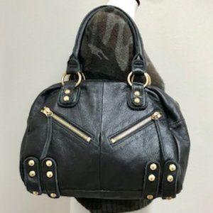 Linea Pelle Gold Stud Leather Bag